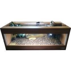 Terrarium Stepek  80x35x30 z wyposażeniem dla żółwia lądowego, stepowego