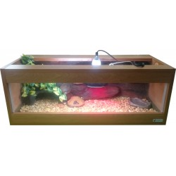 Terrarium z wyposażeniem dla żółwia lądowego