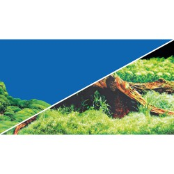 Tło akwariowe dwustronne 30 cm/25 m korzeń/blękit