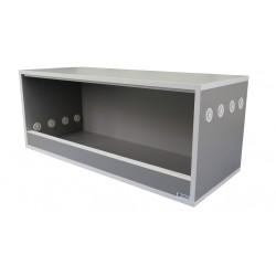 Terrarium 100x40x40 Szary Platynowy - Biały do samodzielnego montażu