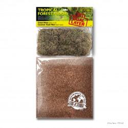 Podłoże 2w1 do terrarium las tropikalny  6,6L + 2,2L